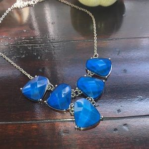 Blue chunky gem necklace 💎